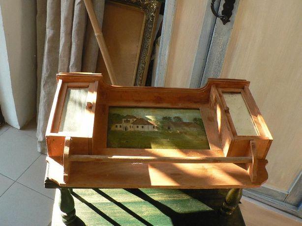 Шкафчик для ключей преиод 20-30е годы, с рукотворной росписью