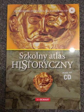 """""""Szkolny atlas historyczny z płytą CD"""" wyd. Demart - 12 zł"""