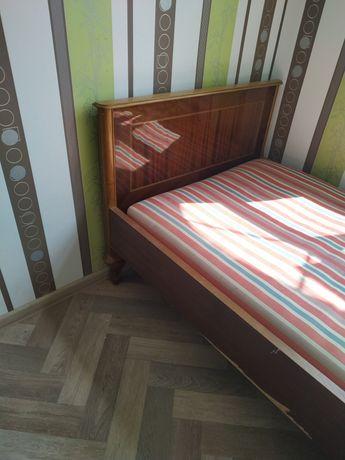 Кровать, односпальная, дерево (шпон), лакированная