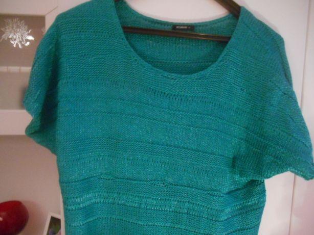 bluzeczka zielona roz UK 12 firma ROMAN