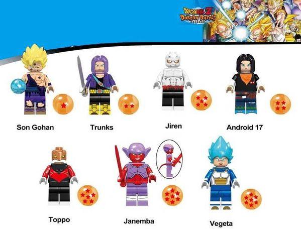 Bonecos minifiguras Dragon Ball nº21 (compatíveis com Lego)