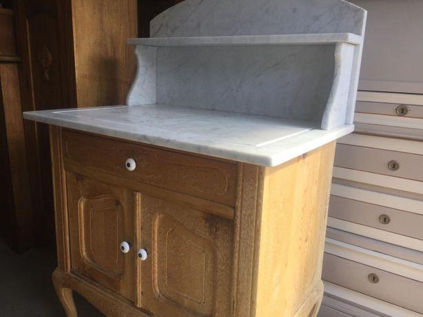 Stara toaletka, komoda,szafka z marmurem