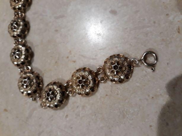 Pulseira Vintage de prata dourada