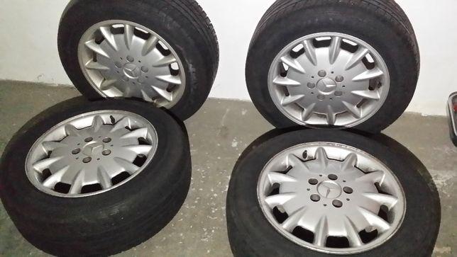 Jantes originais mercedes + pneus/jante 16 e pneus praticamente novos