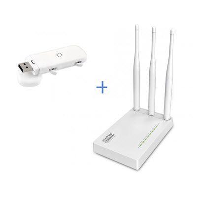 Комплект WiFi роутер Netis MW5230 + 4G/3G модем ZTE MF823