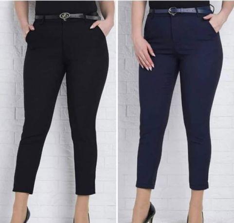 Укороченые стрейчевые брюки