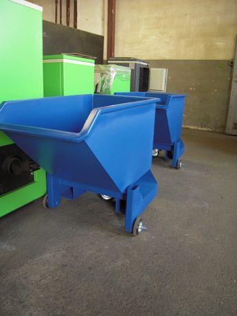 Pojemna koleba PMMC 0,6 m3 na kółkach, idealna pod maszyny.