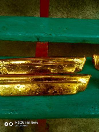 ручки от е28 бмв оклеены золотой пленкай