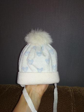 Шапка зимняя для новорожденного