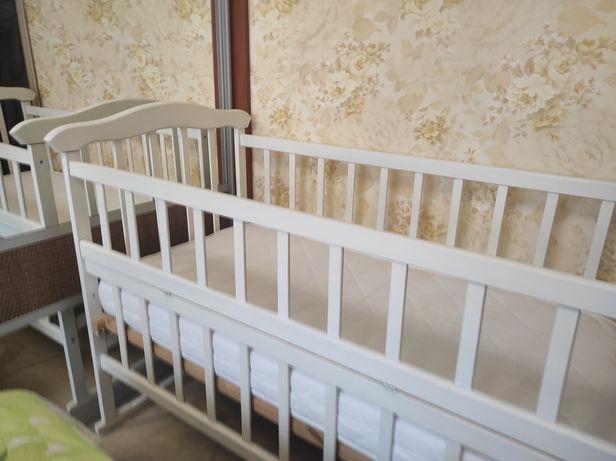 Детская кроватка качалка + матрас Италия Орто - 70% от стоимости