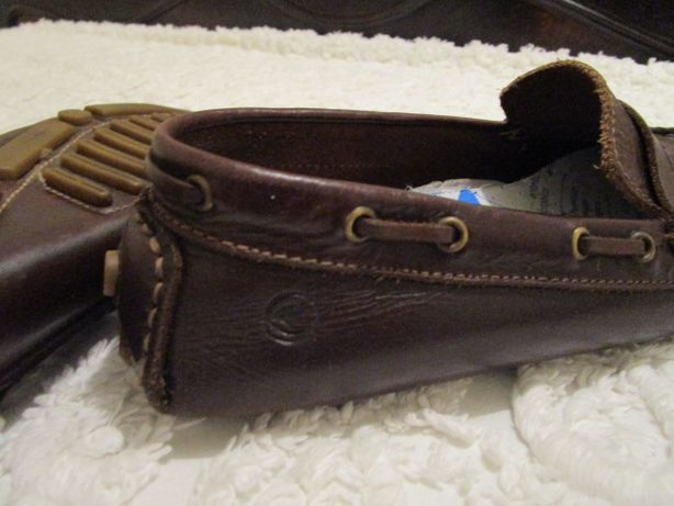 Sapatos/Mocassins em pele castanhos, 37 - Unissexo
