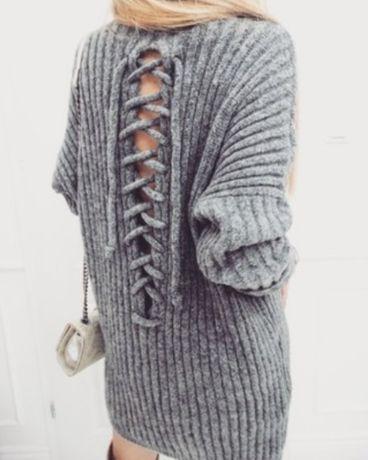 Sweter wiązany plecy rozm uniwersalny