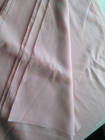 Ткань трикотиновая 2 отреза (нежно-розовая и серая) с советских времён
