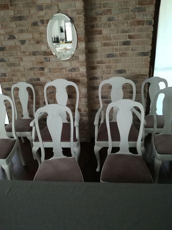 Komplet 8 szt dębowych krzeseł