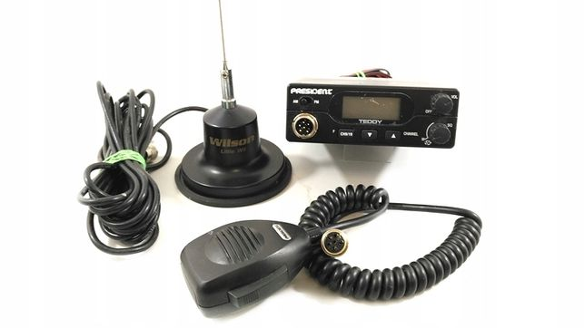 UNIKNIJ KONTROLI - CB radio President + antena