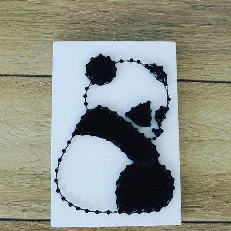 Panda string art