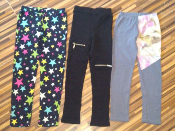 Spodnie legginsy 128 3 pary