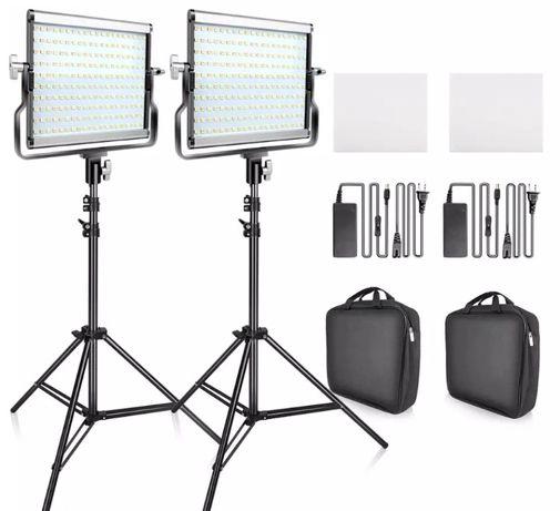Kit iluminacao led video profissional bi-color dimavel, ver mais info.
