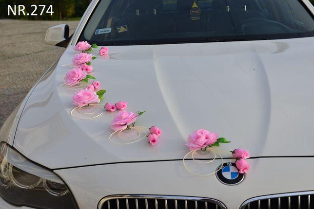 Dekoracje-ozdoby-stroiki-przybranie samochodu-auto do ŚLUBU