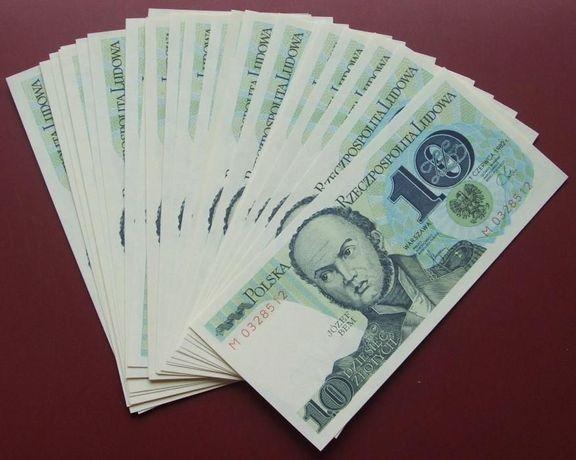 **LOT Banknotów PRL 10 zł J.BEM - 25 szt. !!! Stan Bankowy UNC !!!