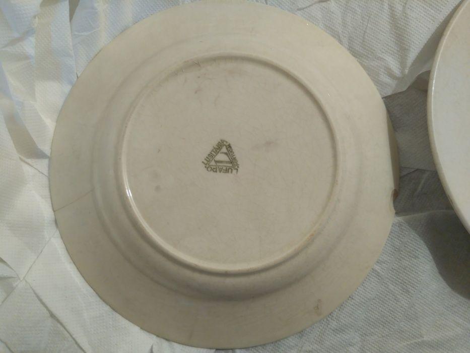 2 pratos antigos Azambuja - imagem 1