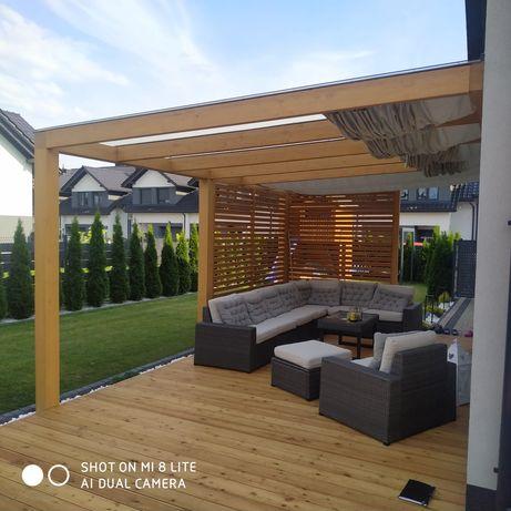 Zadaszenie tarasu 4×4 altana pergola szklane oranżeria ogródowa żagle
