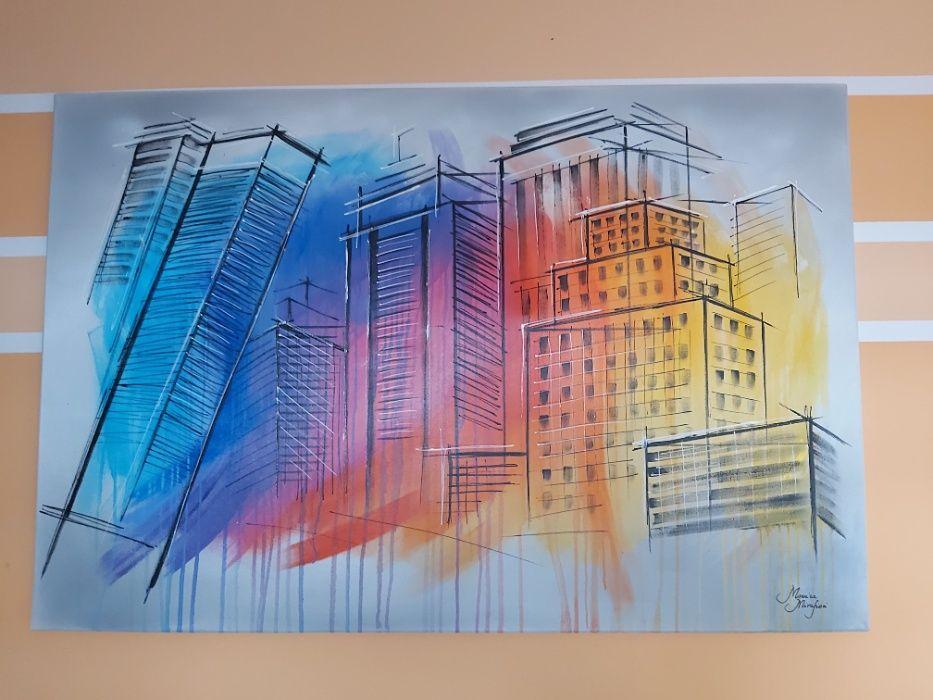 "Obraz ""The building"". Słupca - image 1"