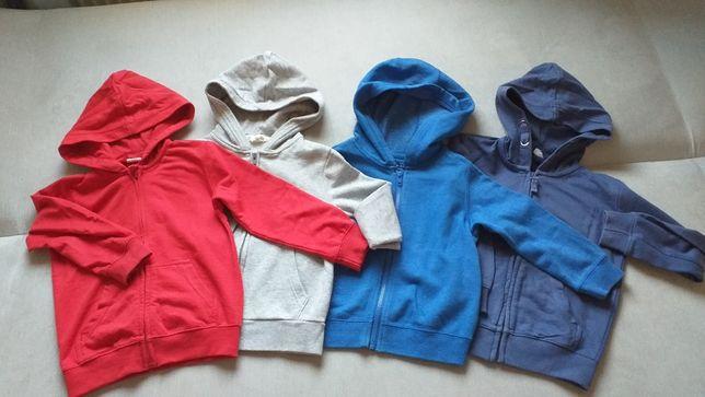Bluzy chłopięce 110 cm- 4 sztuki