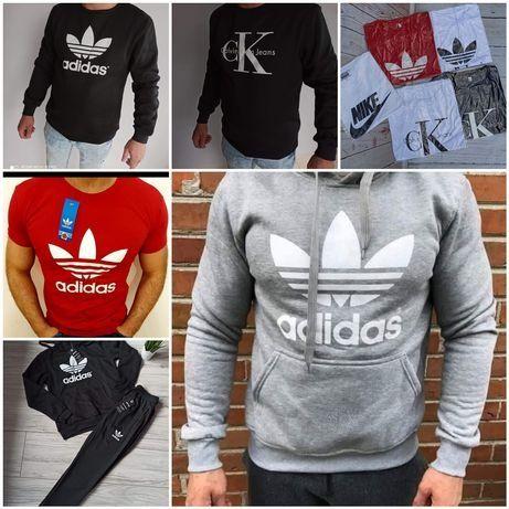 Bluzy meskie z logo Nike Tommy Adidas i inne M-XXL!!!