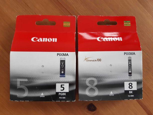Trzy Tonery Canon Pixma: PGBK5 i BK8 2szt + gratis