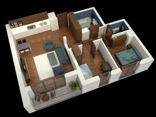 65,50m2, 3 pokoje, nowe, Górna, ul. Kaliska 26,