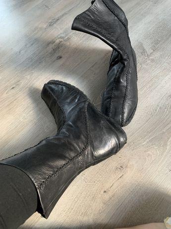 Kozaki bata 38 miekka skóra