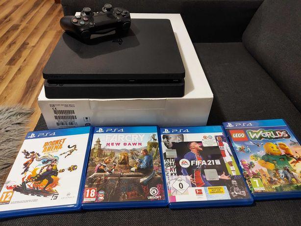 Sprzedam PS4+pad+4 gry