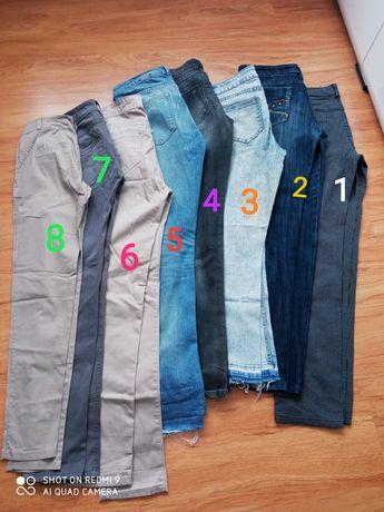 Spodnie dżinsowe materiałowe damskie S,M,L