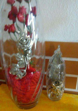 Conjunto de 2 Peças de vidro com estanho