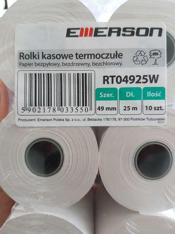 Rolki kasowe termoczułe Emerson 49mm x 25 m 6 szt