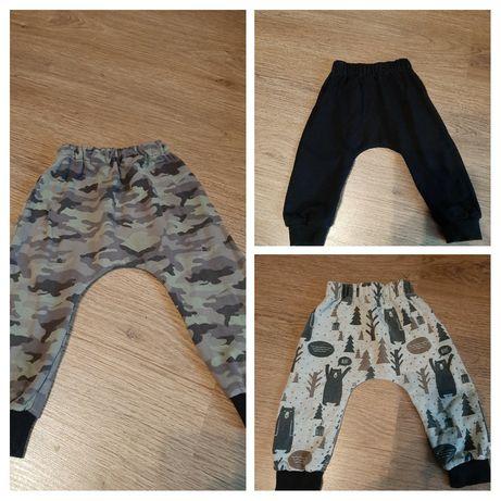 Spodnie dresowe baggy szczupły chłopiec 74