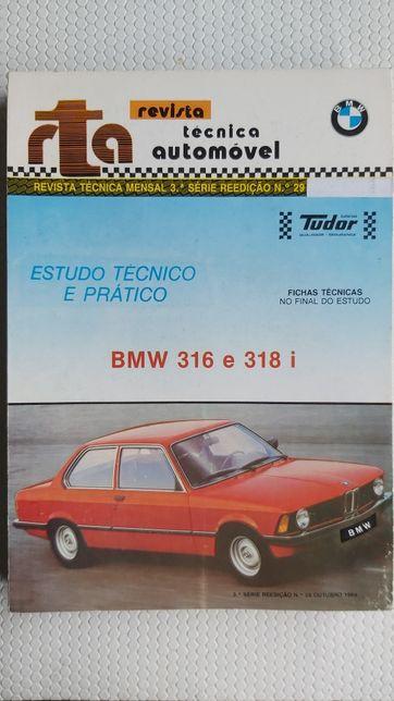 BMW 316 e 318i manual mecânico, revista automóvel técnica