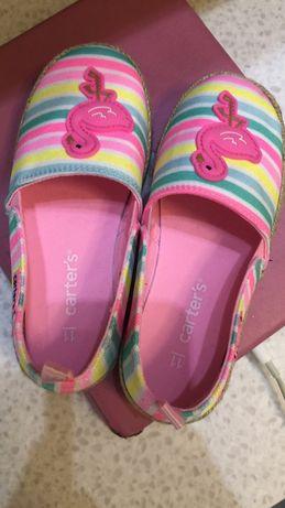 Детские эспадрильи carters 28 размер, девочка, обувь