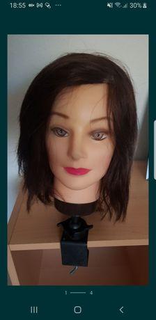 Cabeça boneca para treino cabeleireira