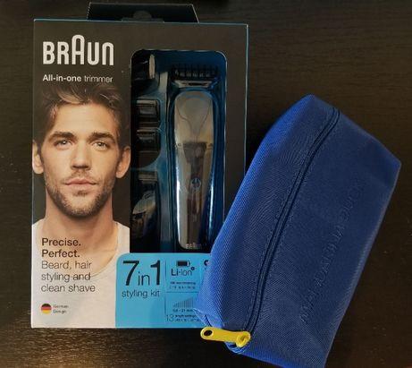 Новый триммер BRAUN универсальный + чехол в коробке / мужской комплект