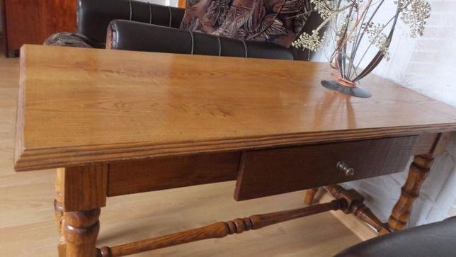 журнальный деревянный столик ручной работы с ящиком для мелочей лак
