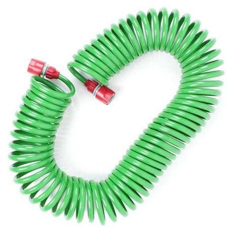 Шланг для полива спиральный 15 м с коннекторами INTERTOOL GE-4002