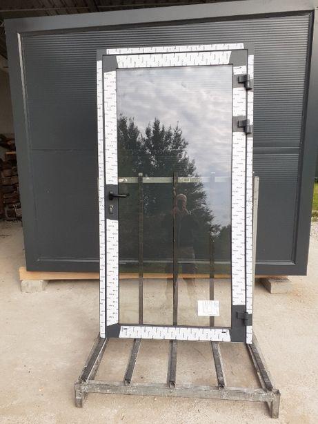 Drzwi aluminiowe 1100x2100