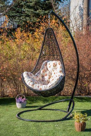 Подвесное кресло качалка из ротанга для дома сада. Гамак плетёный Леди