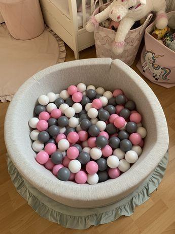 Szary basen z piłeczkami/ kulkami 280 piłek