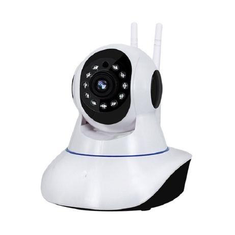 Câmara IP 1080p WiFi sem fio áudio bidirecional rotativa visão noturna