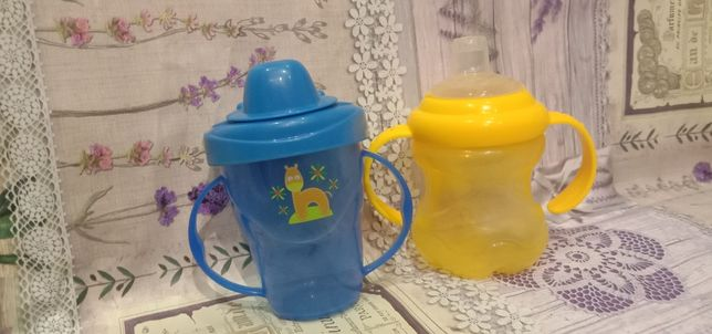 Чашка-непроливайка + поильник Nuby
