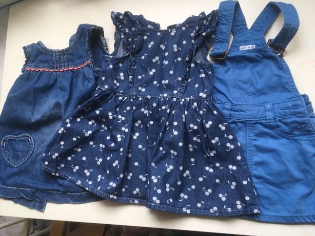 3 sukienki jeans