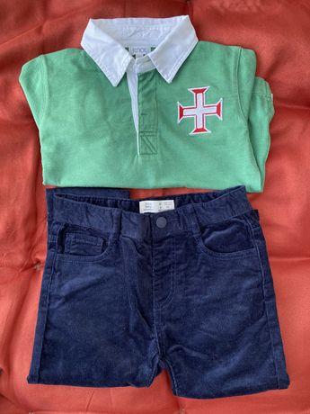 Roupa nova menino 2 anos polos,calças,camisolas Knot, Timberland, Zara